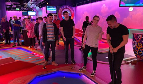 Team crazy golf